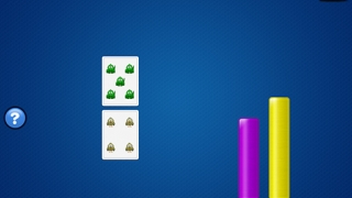 Kids match objects with number rods to develop number sense.