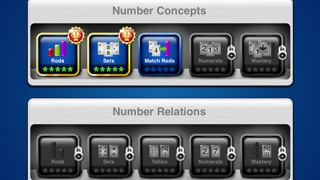 The app covers five core concepts with five levels within each concept.