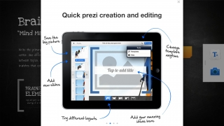 Brief instructions on how to use Prezi for iPad.