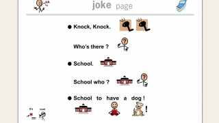 Jokes with symbols stretch students to think differently about meanings and to laugh.