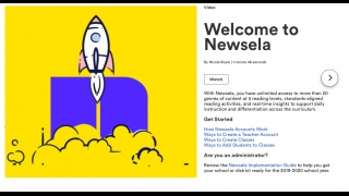 The Newsela website has lots of information about how to get started and how to use the site's content and features.
