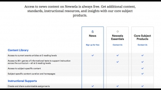 In 2019, Newsela's pricing model changed. Teachers can create free Newsela News accounts; paid subscriptions are required for Newsela Essentials and Core Subject materials, which also include more features.