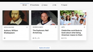 Newsela features articles from major news and outlets that are adapted to multiple reading levels.