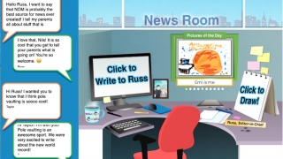 Students can send messages and drawings to the editor.