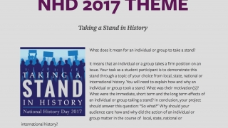 Check out the resources for National History Day.