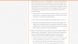 Teachers can access detailed plans from the basic activity descriptions.