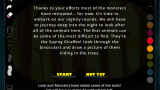 An example mission has the user searching for Spying Giraffes.
