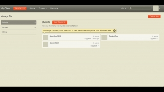 Teachers can set up a virtual classroom and easily add students.
