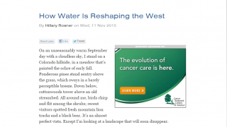 Read about the ways that humans have diverted water and affected the environment.