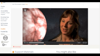 NOVA videos feature scientists at work.