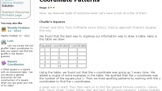 For this problem, making a table and finding a pattern are both acceptable solutions.