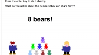 Some activities, like this sharing game, include online interactive elements.