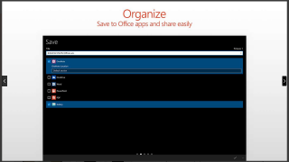 Save to other Office apps, or share electronically from your device.