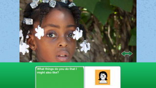 "Kids create their own avatars and record their voices to create dialogues with the kids they ""meet."""