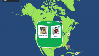 Explore the world through each child's story and country's facts, and maps.