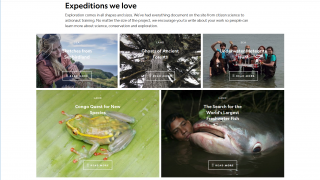 The site highlights some of National Geographic's favorite expeditions.
