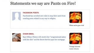 PolitiFact's Truth-O-Meter classifies statements from true to pants on fire.