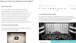 Topic example: What can YOU do to defend human rights?