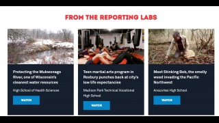 Student Reporting Labs -- a youth media site run by PBS -- offers a good curriculum.