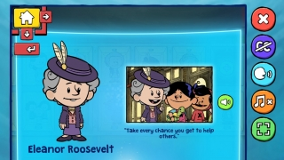 In a game from Xavier Riddle, kids can read about prominent people, and create their own hero.