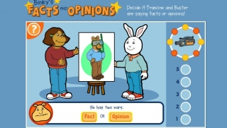 A unique PBS KIDS Arthur game teaches critical thinking by distinguishing fact from opinion.