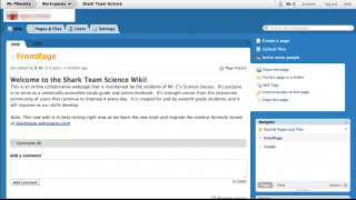 Each PBWorks wiki has a FrontPage that visitors will see first.  To edit any page, users can just click on the Edit button.