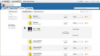 Wiki owners can manage which users are allowed to view pages and who can edit them.
