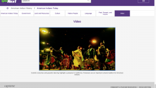 In addition to text, the site has visual content, such as images and videos.
