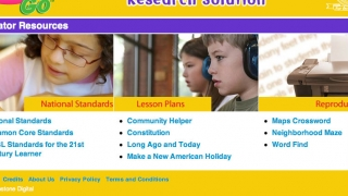 Resources for educators include Common Core information.