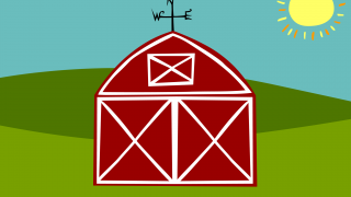 Tap the barn to see what animal is hiding inside