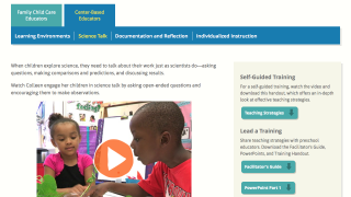 Exemplar videos provide meaningful science PD for pre-K educators.
