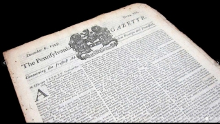The Pennsylvania Gazette was printed in 1745.