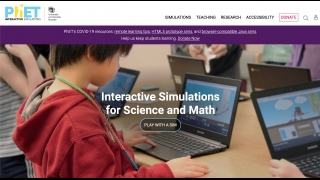 The main PhET website has access to all the simulations and resources