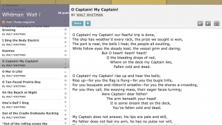 Users can save favorite poems for later review.