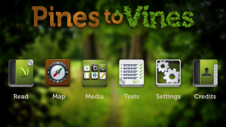 Choose from six options on the home page to begin learning about forests.