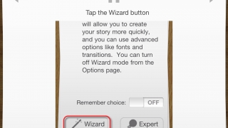 The Wizard option guides you through the process step by step.