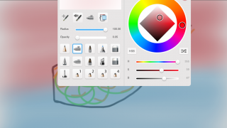 Multiple brush and color options are available.