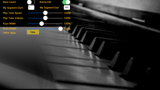 Adjust keyboard size, playback speed, volume, and more.