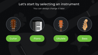 Learn and practice the piano, guitar, bass, and ukelele. To get started, pick an instrument.