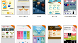 Piktochart offers 6 themes free, and over 100 choices if you choose to upgrade.
