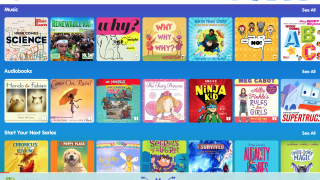 Choose from popular and original music, audiobooks, or series titles.
