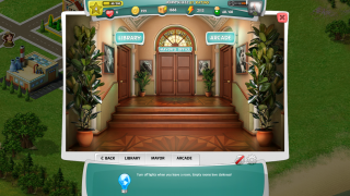 The place to learn more information and gather more points is the arcade.