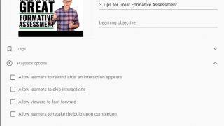 Tweak settings on bulbs to customize the student experience.