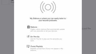 Stations allow users to organize podcasts.