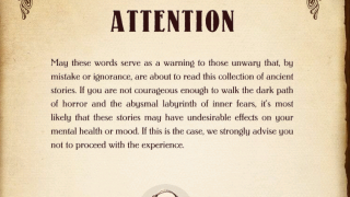 A spooky warning helps get readers into the experience.
