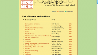 Pick and choose poems here-- you can also search by number.