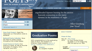 Featured poems rotate on the Poets.org home page.