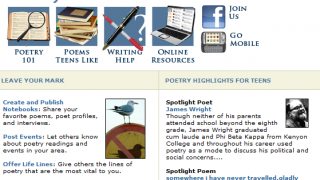 Poetry Resources for Teens is great, but a teen-friendly interface might make it more appealing.