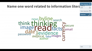 Cool interactive features such as word clouds increase student engagement.