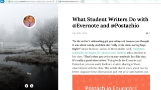 Postach.io is a blogging tool linked with Evernote. Here's an example post from a postach.io blog user.
